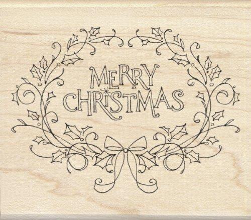 Inkadinkado Holly Framed Merry Christmas