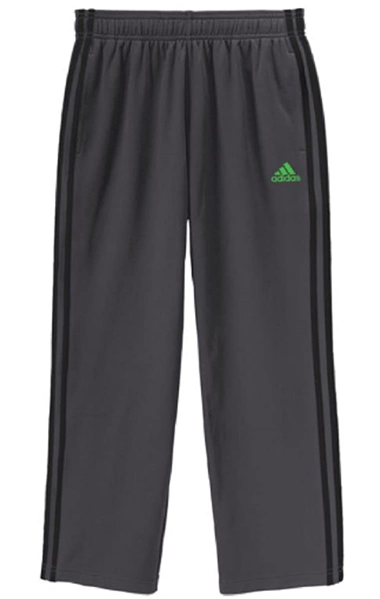 10//12 Medium Adidas Performance Youth Boys Tech Fleece-Lined Pull-on Track Pant , Med. Grey // Lime Green