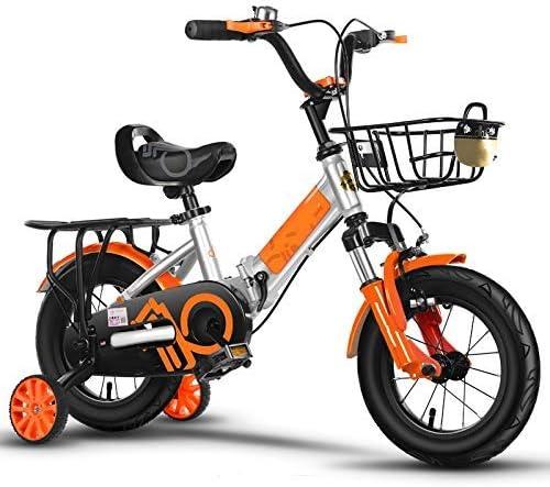 YSA キッズバイク折りたたみ自転車12 14 16 18 20インチ、男の子女の子自転車高炭素フレーム、2〜15歳の子供用自転車男の子と女の子のギフト4色自転車