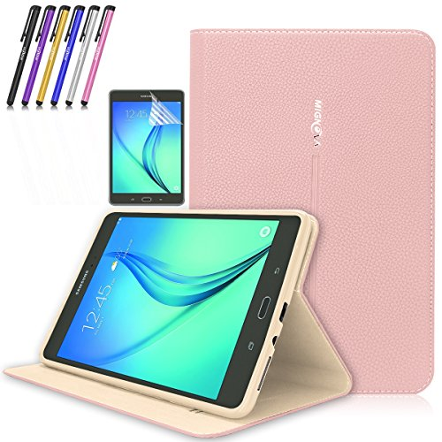 Super Slim Case for Samsung Galaxy Tab A 8-Inch Tablet SM-T350 (Pink) - 9