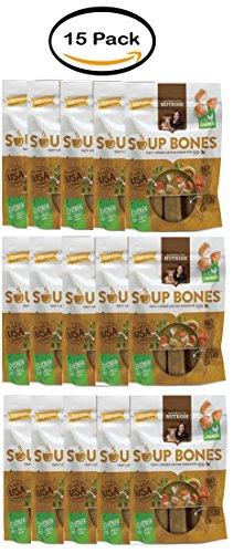 Pack of 15 - Rachael Ray Nutrish Soup Bones Dog Treats, Chicken & Veggies Flavor, 6.3oz by Nutrish