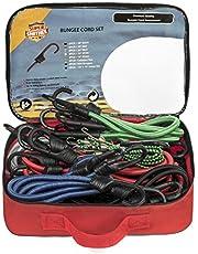 Bungee Cords Resistentes Cuerdas Elásticas Bungee con Ganchos Fabricadas con Orgullo por SUPER SMIITHEE 27 Correas de Sujeción para Equipaje Fuertes Enganches Metálicos de Clip