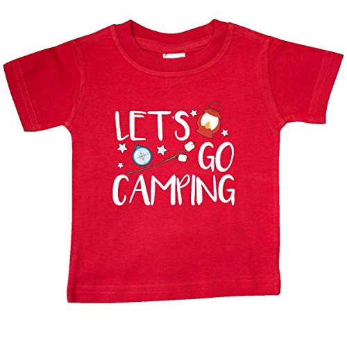 Inktastic-Baby-Boys-Lets-Go-Camping-Baby-T-Shirt