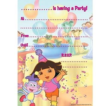 Amazon Com Dora The Explorer Party Invitation Pad Of 20 Party
