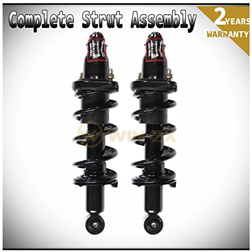 WIN-2X New 2pcs Rear Left & Right Side Quick Complete Suspension Shock Struts & Coil Springs Assembly Kit Fit 01-05 Honda Civic 01-03 Acura EL (Honda Civic 4dr Cross)