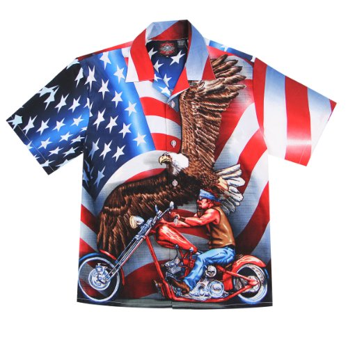 Dragonfly Roadhouse Freedom Button up Short Sleeve Shirt ...