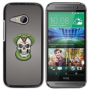 Design for Girls Plastic Cover Case FOR HTC ONE MINI 2 / M8 MINI Cobra Skull Snake Skeleton OBBA