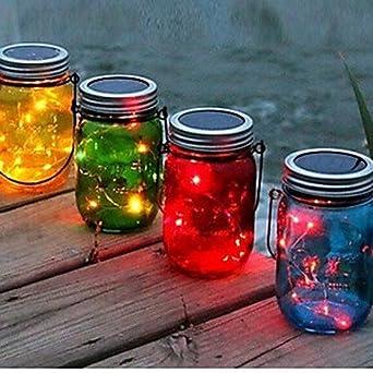 CLCJW Iluminación creativa,Luz de noche la botella 1pc solar luminosa LED DIY noche luz manualidades , yellow: Amazon.es: Iluminación