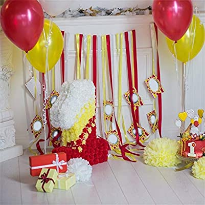 MMPTn 5x5ft Polyester Baby Birthday Party Globos Regalo s ...