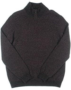 Calvin Klein Men's Quarter Zip Sweater, Pinot Melange, Medium