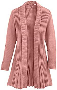 Cardigans for Women Long Sleeve Midweight Swingy Knit Cardigan Sweater WPocket
