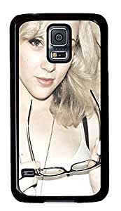 Samsung Galaxy S5 Beautiful Girl With Glasses PC Custom Samsung Galaxy S5 Case Cover Black