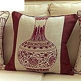 [More colors]/Modern minimalist style hug pillowcase/ linen cushion covers/Sofa bed hug pillowcase-D 42x42cm(17x17inch)
