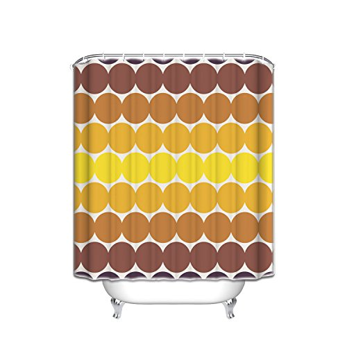 Prime Leader Seamless Retro Dots Pattern Shower Curtain,Extra Long Bath Decorations Bathroom Decor Sets with Hooks Polyester Fabric Shower Curtains 72