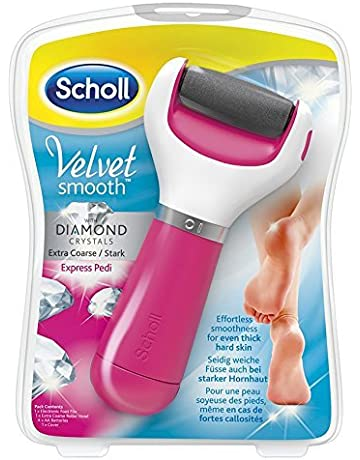 9cd40ef4a0d Scholl Velvet Smooth Pedi Electric Foot File Hard Skin Remover, Pink. #2