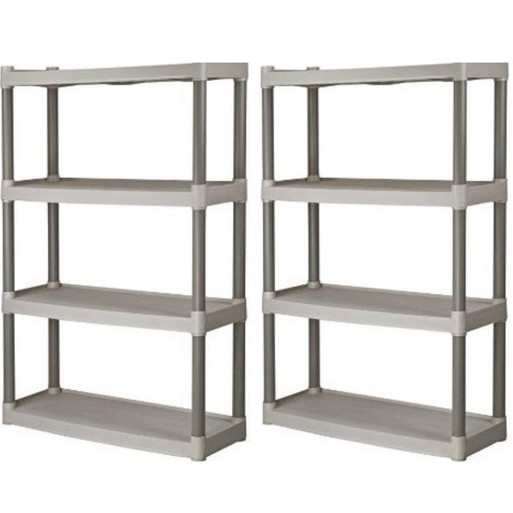 Plano 4-Shelf Heavy Duty Plastic Storage Unit, Pack of 2 + Freebies