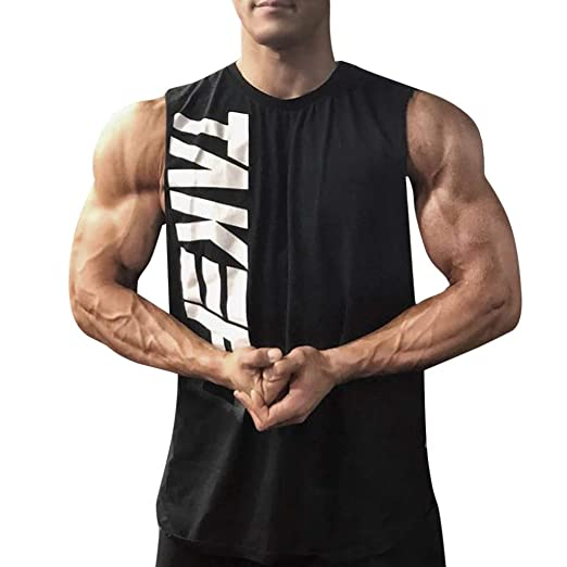 045d43de5d58 Amazon.com: 2019 Summer Deals ! Men Fitness Muscle Letter Print ...