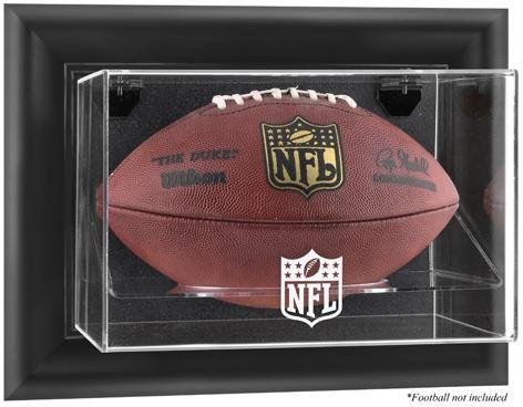 Brown Framed Wall Mounted Football Logo Display Case | Details: - Display Browns Logo Case