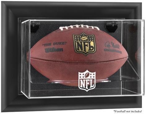 Brown Framed Wall Mounted Football Logo Display Case | Details: - Case Logo Browns Display
