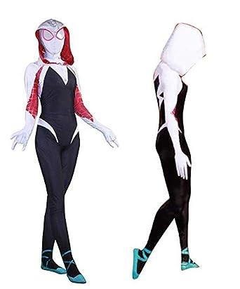 Women Spider  Gwen Stacy Spandex Adult//kids Lycra   Cosplay Costume