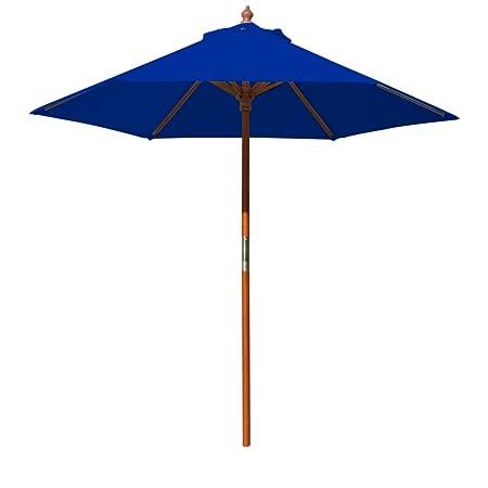 COBANA 15 ft Market Outdoor Umbrella, Extra Large Double-Sided Aluminum Table Patio Umbrella with Crank, Brick Red