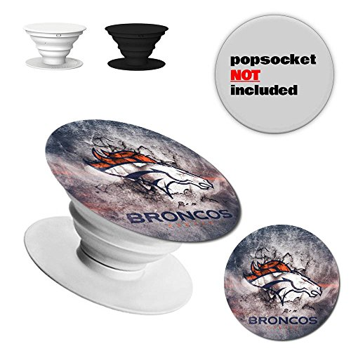 [Decal & Sticker] for broncos popsocket Multi Fundction phone holder stand and grip (POPSOCKET NOT INCLUDED)- 2 packs ()