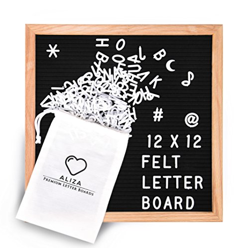 "12"" x 12"" Inch Black Felt Letter Board by Aliza 
