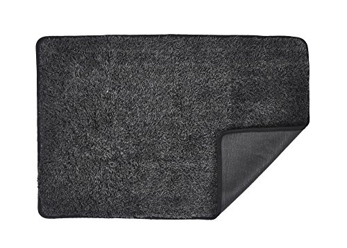 (Eurow Trek N' Clean Super Absorbent Floor Mat (23.5in X 36in) Gray/Black)
