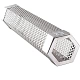 """EZ Smoker Tubes 6"""" Hexagonal Pellet Smoke Tube- Turn your grill into a smoker. Included purchase are our popular E-books: 101 EZ Jerky Recipes, Low Carb Diabetic Friendly Grilling Recipes.…"""