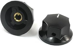 uxcell 6mm Shaft White Mark Rotary Potentiometer Control Knob 33x17mm 2 Pcs