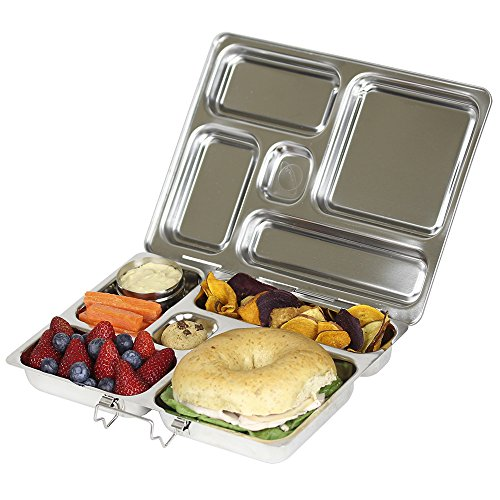 PlanetBox ROVER Eco-Friendly Stainless Steel Bento Lunch Box with 5 Compartments for Adults and Kids (Rockets Carry Bag with Rockets Magnets) by PlanetBox (Image #7)