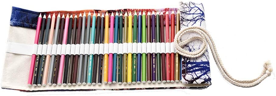 Toyvian - Estuche de 48 Ranuras para Pintar con Pinceles y Pinceles, para Poner del Sol, Dibujo, lápiz de Almacenamiento, Organizador para niños y Estudiantes.: Amazon.es: Hogar
