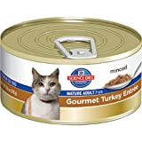 Hill's Science Diet Mature Adult Active Longevity Gourmet Turkey Entree Minced Cat Food, 5.5-Ounce Can, 24-Pack, My Pet Supplies