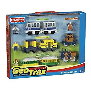 GeoTrax Rail and Road System - Train Vehicle Gift Set with the Most Confused (Woohoo and Opie), Crabbiest (Cranks and Mr. Cross), Busiest (Screech and Skip) and Friendliest (Chatty, Chirpy and Sally) Team from Geo Trax