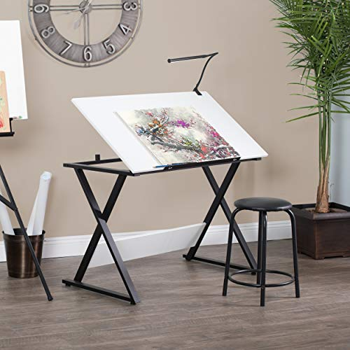 SD Studio Designs Studio Designs 13353 Axiom Modern Art, Drawing, Crafting, Drafting, 42-Inch Wide MDF Adjustable Angle Top Table in Charcoal/White, W x 24'' D x 30'' H by SD STUDIO DESIGNS (Image #1)