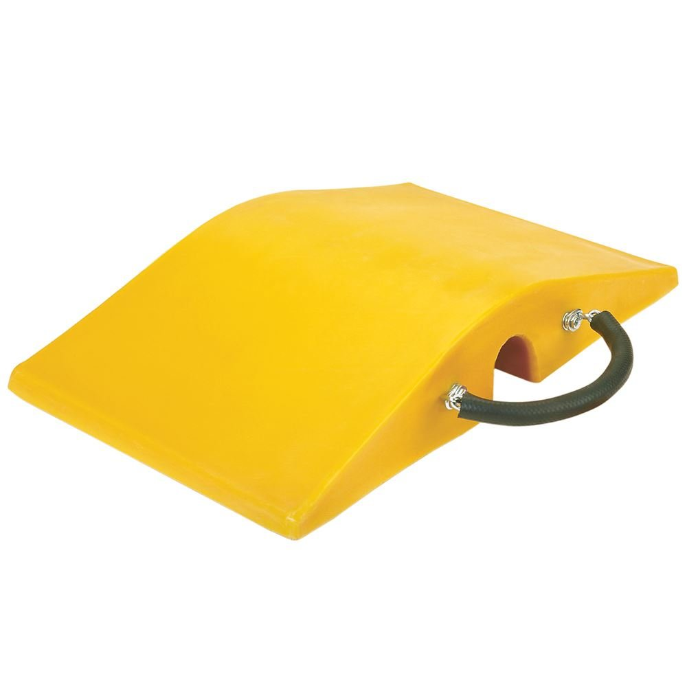 Super-Cross COP2200-4.5 Polyurethane Lightweight Utility Crossover Cable Protector, 4.5'' Tunnel Diameter, Yellow, 18'' Length, 30'' Width, 6'' Height