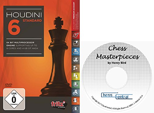 Houdini 6 Standard Chess Playing Software Program bundled with ChessCentral