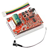 Brushless DC Motor Speed Controller, DROK DC 6-50V Three-phrase Brushless Sensorless Motor Control Board 12v 24v BLDC Motor Driver Regulator Monitor 380W PWM Speed Controller Module with Heat Sink