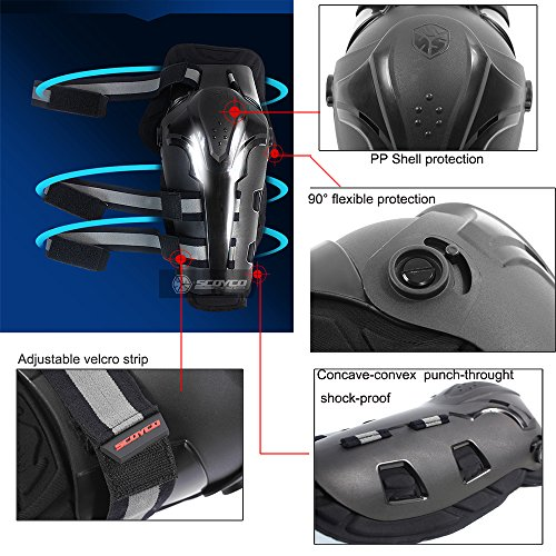 SCOYCO Motorcycling Knee Guard,Shock-Resistant Knee Protector with CE Certificated PP Shell,for Extreme Sport Equipment by SCOYCO (Image #2)