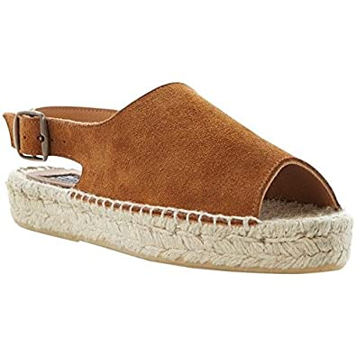 e472e9025f8 Dune Bertie Jasmine Tan Suede Espadrille Flat Sandals UK4: Amazon.co ...