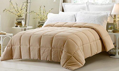 down alternative comforter taupe - 3