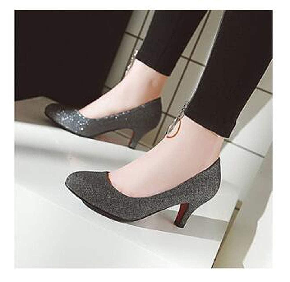 HLG Scarpe basse corte corte corte da donna con tacco basso da donna in tessuto cromato | Buon Mercato  690b57