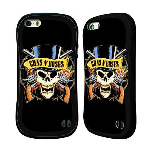 Officiel Guns N' Roses Crâne De Haut-De-Forme Art Clé Étui Coque Hybride pour Apple iPhone 5 / 5s / SE