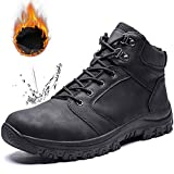 Mens Snow Boots Waterproof Outdoor Hiking Shoes Anti-Slip Ankle Sneakers Fur Lined Warm Winter Boots for Men