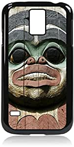 Totem-Case for the Apple Iphone 5-5s Universal- Hard Black Plastic Snap On Case with Soft Black Rubber lining