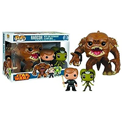 Pop! Star Wars: Rancor with Luke & Slave Oola Vinyl Figure 3-Pack: Toy: Toys & Games