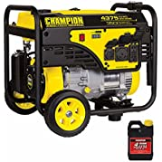 Champion 3500wt Running / 4375wt Peak Portable Generator, 5% THD, CARB & EPA Certified