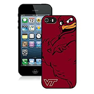 Apple iPhone 5s Protective Skin Atlantic Coast Conference Virginia Tech Hokies 6 Case For Plastic iPhone 5s 5th Generation Case