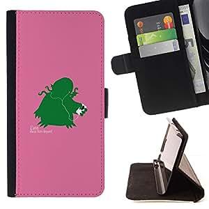 Momo Phone Case / Flip Funda de Cuero Case Cover - Izann - Funny - Apple Iphone 5C