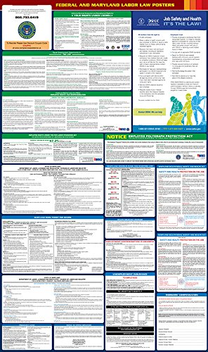 2017 Maryland State and Federal All-in-one Labor Law Poster - English